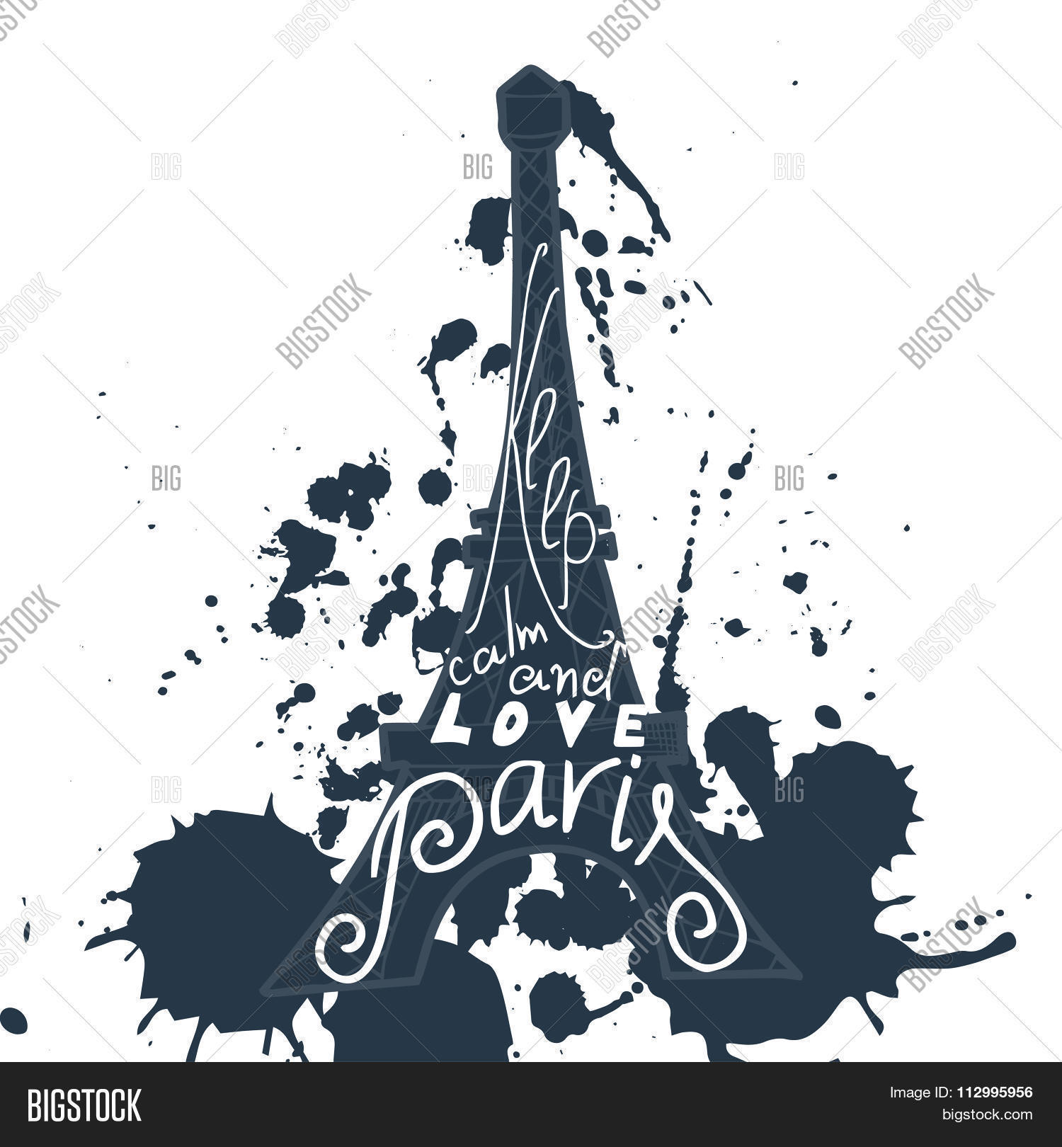 Paris Graphic Vector Photo Free Trial Bigstock