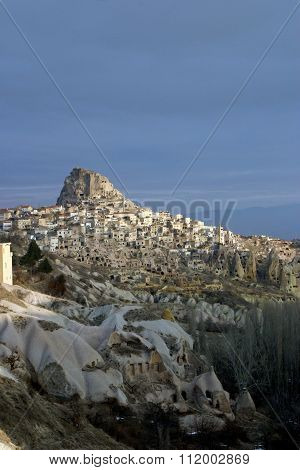 Uchisar in Cappadocia Turkey