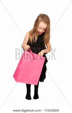 Cute Blonde Girl Shopper