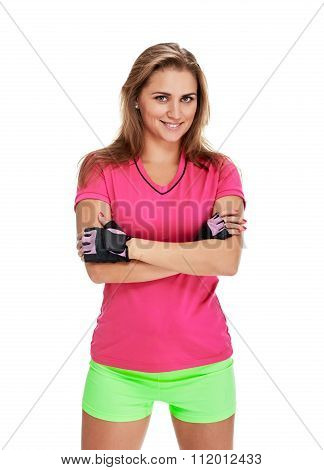 slim and smile fitness woman portrait