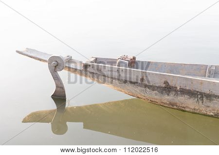 Helm Of Row Boat , Paddle Boat , Dinghy