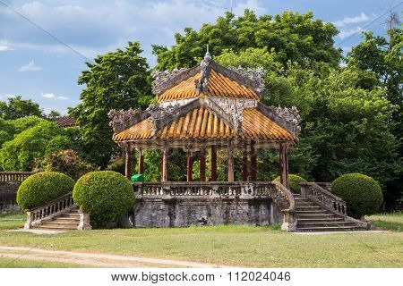 Pavilion In Imperial Royal Palace Of Nguyen Dynasty In  Hue