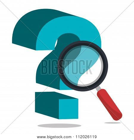 question mark with magnifying glass