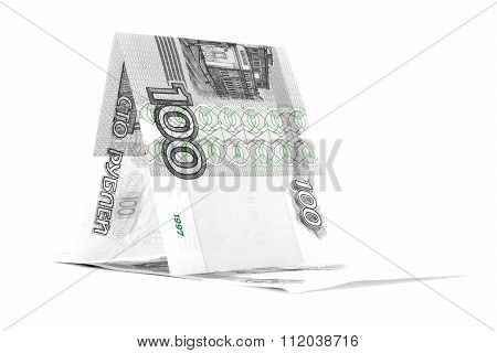 Russian Currency Ruble Sailfish, Rouble Vessel Isolated On White Background