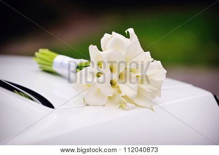 Bridal Bouquet Of Calla Lilies