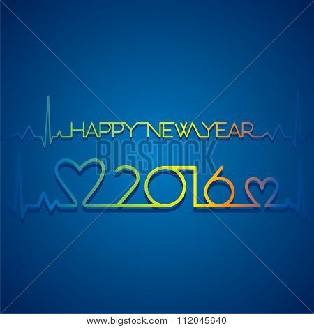 new year 2016 greeting design