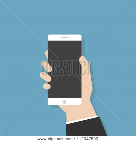 Hand Holding Phone.