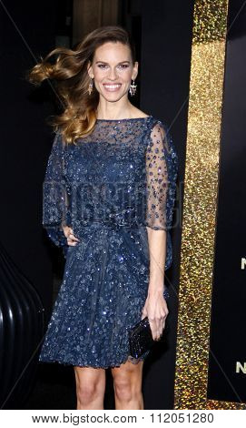 Hilary Swank at the Los Angeles Premiere of