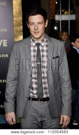 HOLLYWOOD, CALIFORNIA - December 5, 2011. Cory Monteith at the Los Angeles premiere of