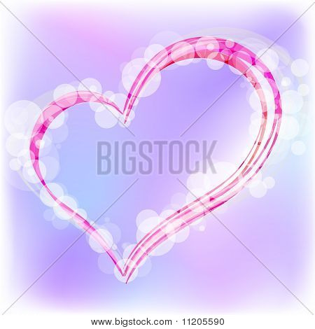 Valentine's Day heart.  Vector Illustration.