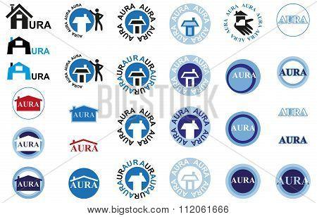 Icons Inscription Aura And House