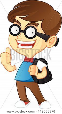 Nerd Geek ready to school