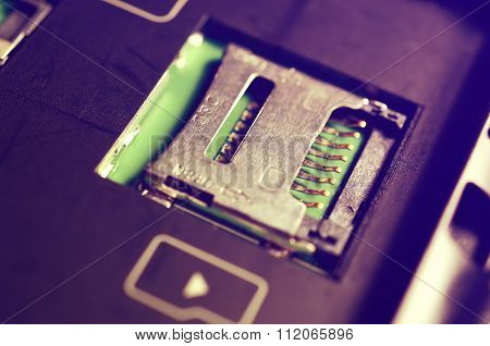 Socket for memory card micro-SD.
