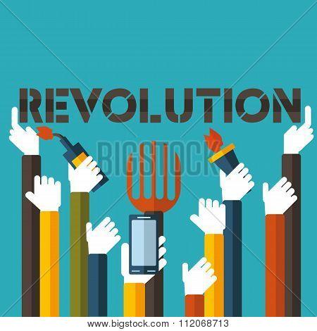 Revolution in  vector format