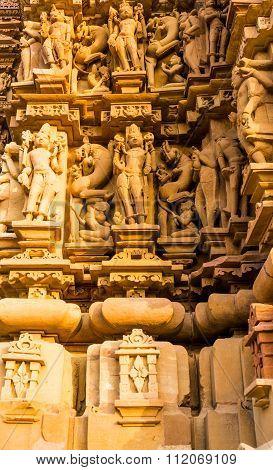 Erotic carvings at Khajurao temples India