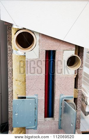 Modern Wall Insulation With Fiberglass, Mineral Stone For An Optimal Energy