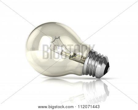Light bulb. 3D render