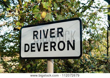 River Deveron Road Sign