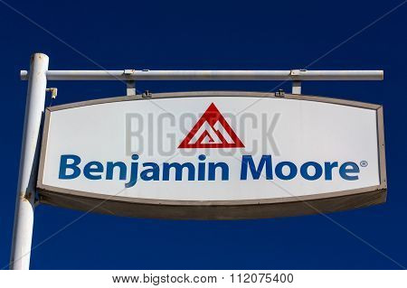 Benjamin Moore Paint Store Logo And Sign