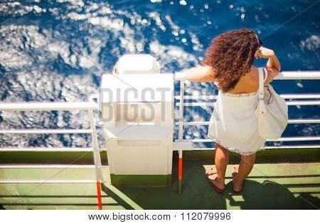 Girl Looking The Sea