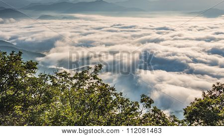 Fog And Cloud Mountain Valley Landscape