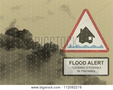 Amber flood warning