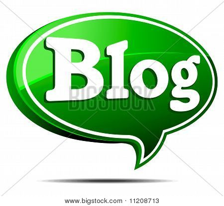 Green Blog Speech Bubble