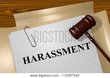 Harassment Concept