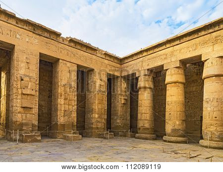 Walking In Egyptian Temple