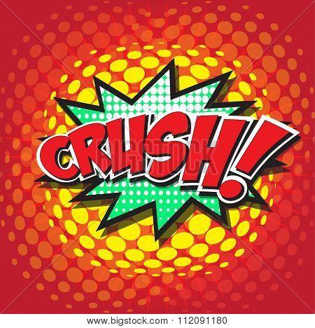 CRUSH! wording sound effect