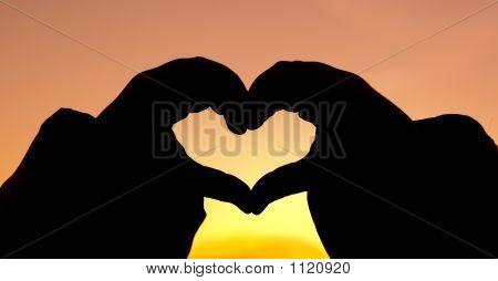 Silhouette Hand Heart