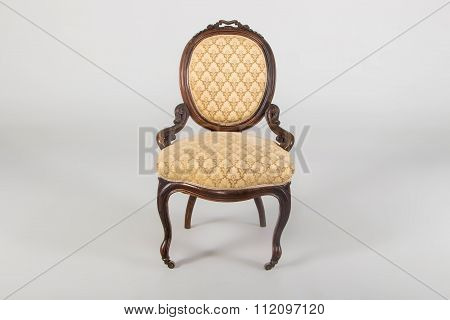 Antique Wooden Armchair