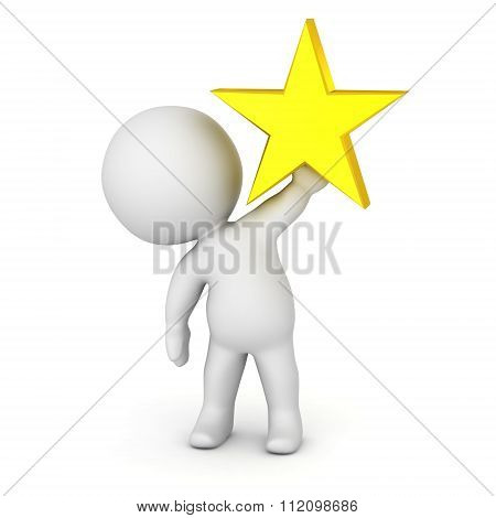 3D Character Holding Star