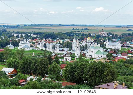 Suzdal City Aerial View With Pokrovsky Convent, Russia