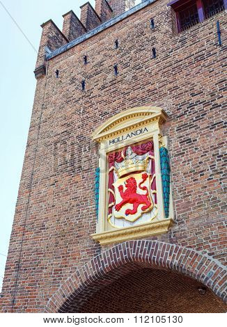 Coat Of The Arms Of Netherland At Gate, Hague