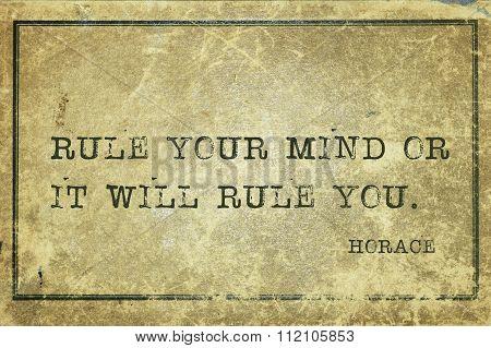 Rule Mind Horace