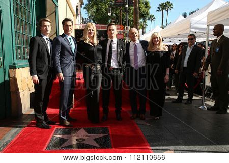 LOS ANGELES - DEC 8:  Rob Lowe, family at the Rob Lowe Star on the Hollywood Walk of Fame at the Hollywood Blvd on December 8, 2015 in Los Angeles, CA