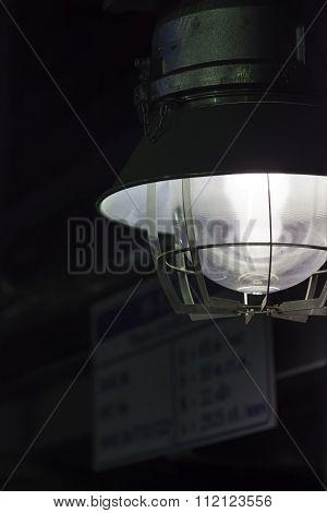 industrial led night lamp closeup