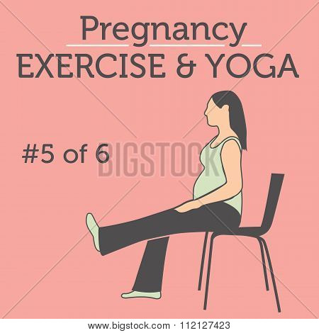 A Beautiful Young Lady doing her Pregnancy Exercise and Yoga Workouts