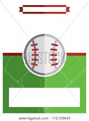 Baseball Game Flyer Illustration