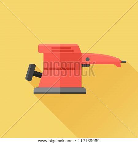 Electric sander flat icon