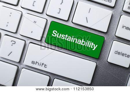 Sustainability Button On Keyboard
