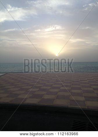 Sunset at Kind Abdullah Economic City
