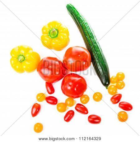 Fresh Vegetables Isolated On White Background