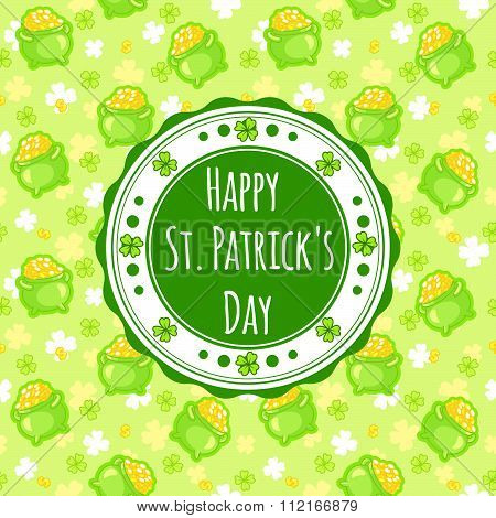 Greating Card For St. Patrick's Day With An Inscription