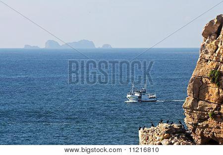 Trawler In The Sea Of Peniche