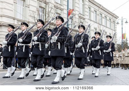 Lithuania Marine Corps Marching