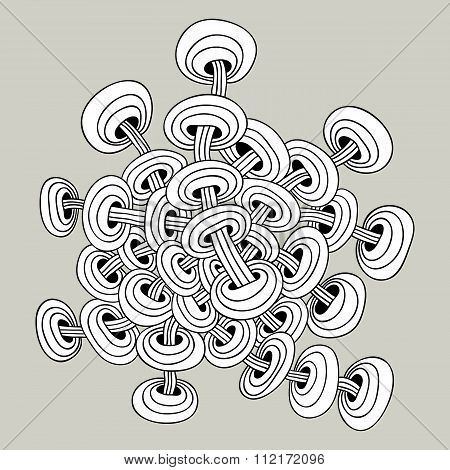 The Abstract Pattern Of Interwoven Chains