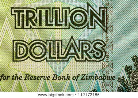 Zimbabwe Twenty Billion Dollars Banknote