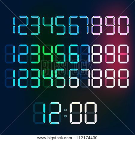 Digital Numerals vector